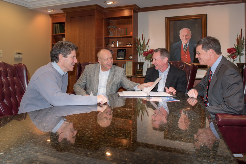 """Admissions Director Dan Schweickhardt, CEO Steve McGrew, Clinical Director Dr. Scott Anderson and Medical Director Dr. Fred """"Kip"""" Wenger."""