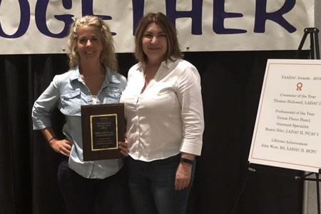 Teresa Hazel TAADAC Professional of the Year